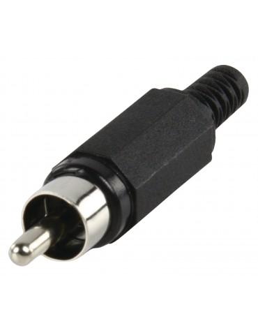 Connecteur RCA Male Noir
